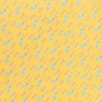 Silk Monkey Pocket Square - Yellow