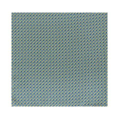 Silk Stirrup Pocket Square - Navy/Yellow