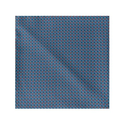Silk Stirrup Pocket Sqaure -Navy/Red