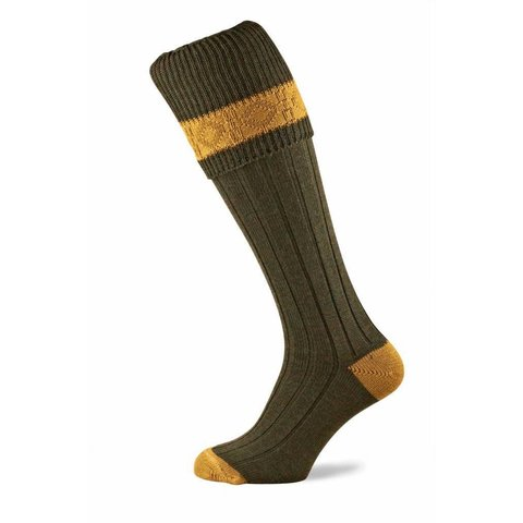 Byron Shooting Socks - Dark Green