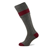 Byron Shooting Socks - Grey Tweed