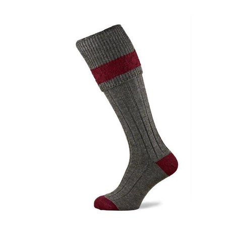 Byron Shooting Socks - Grey Tweed