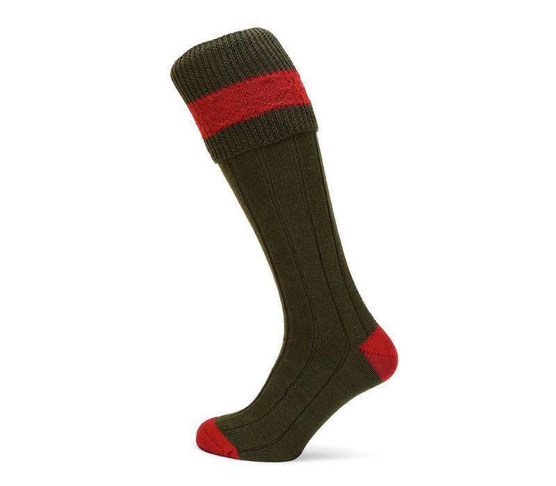 Byron Shooting Socks - Olive