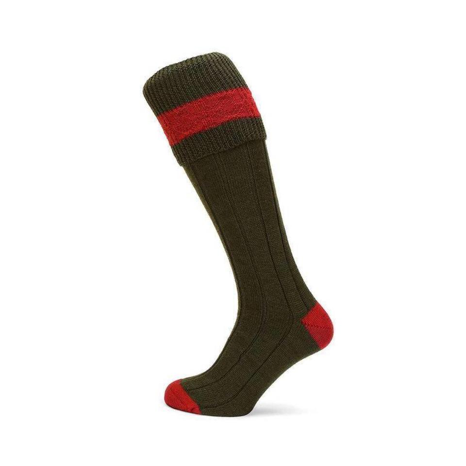 Byron Shooting Socks - Olive
