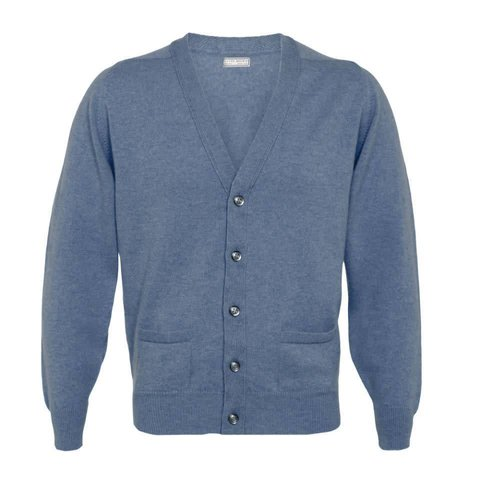 Cashmere Cardigan - Denim