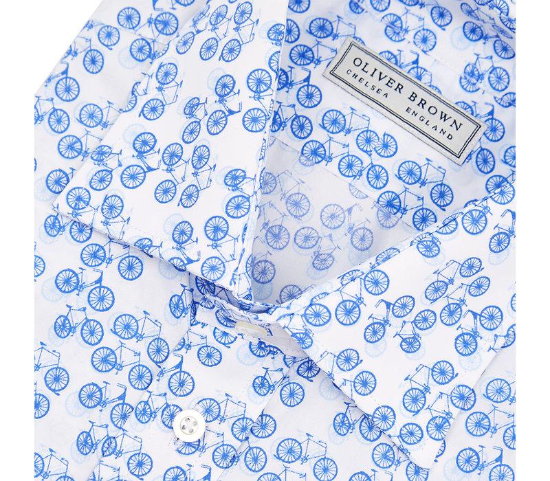 Bicycle Print Poplin Shirt