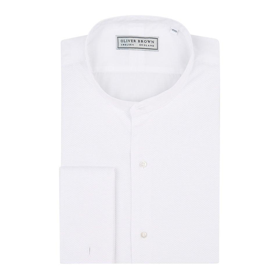 Marcella Dress Shirt, Collarless