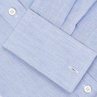 Collarless Shirt - Blue
