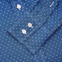 Polka Dot Patterned Shirt - Blue/White