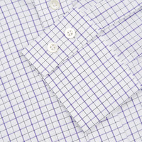 Windowpane Checked Shirt - Black/Purple