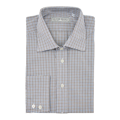 Checked City Shirt - Brown/Blue