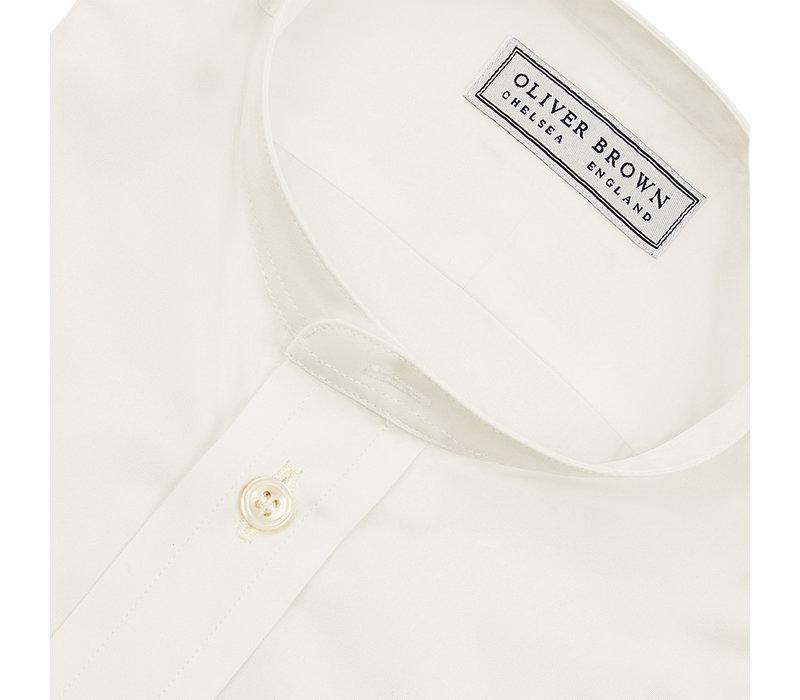 Collarless Shirt - Cream