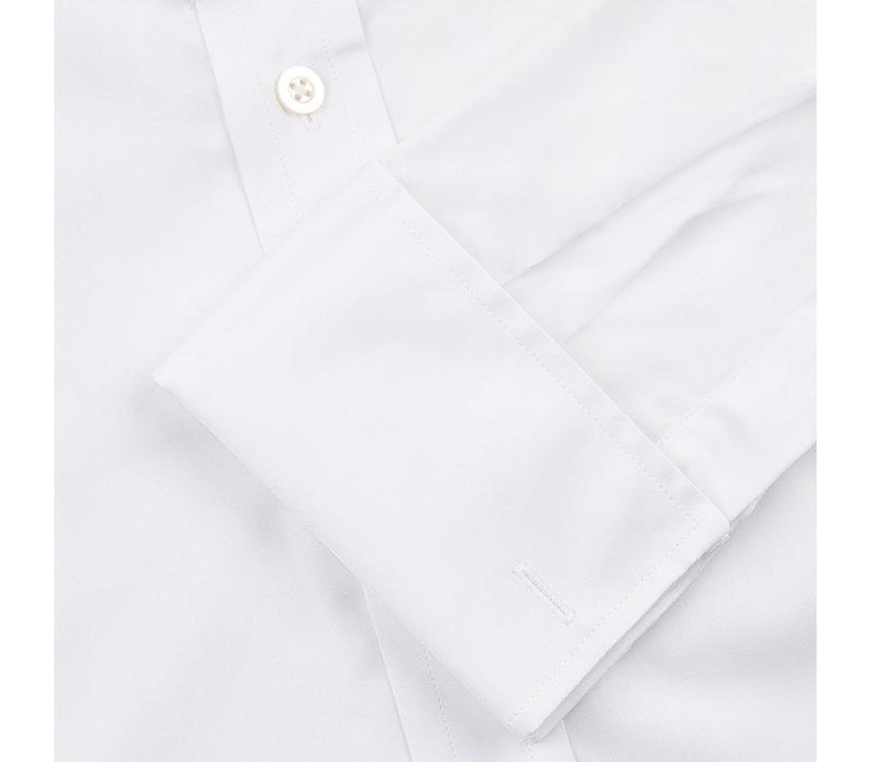 Collarless Shirt - White