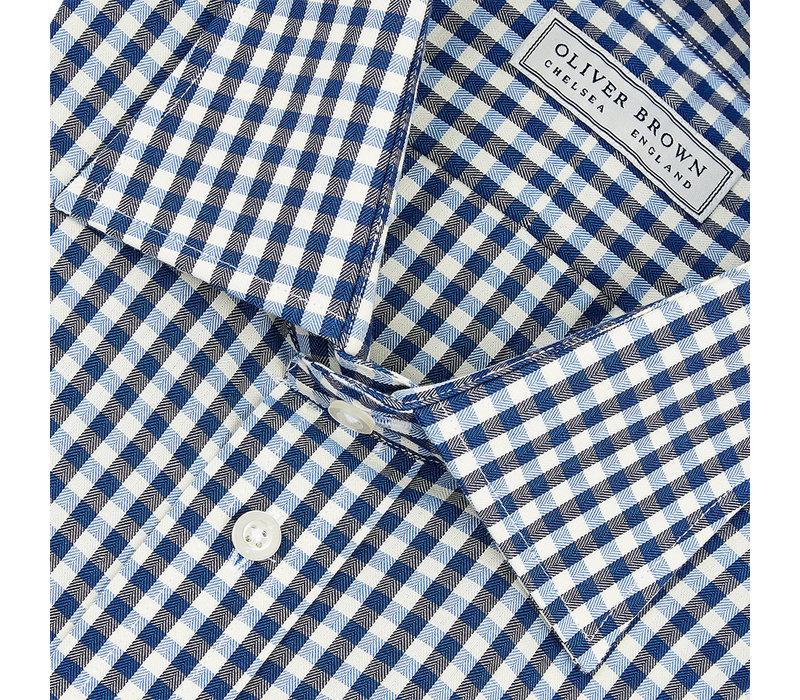 Gingham Shirt - Navy/Sky