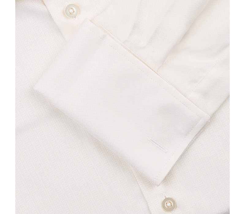 Herringbone City Shirt - Cream