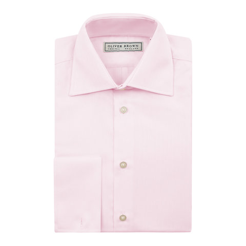 Herringbone City Shirt, Slim Fit - Pink