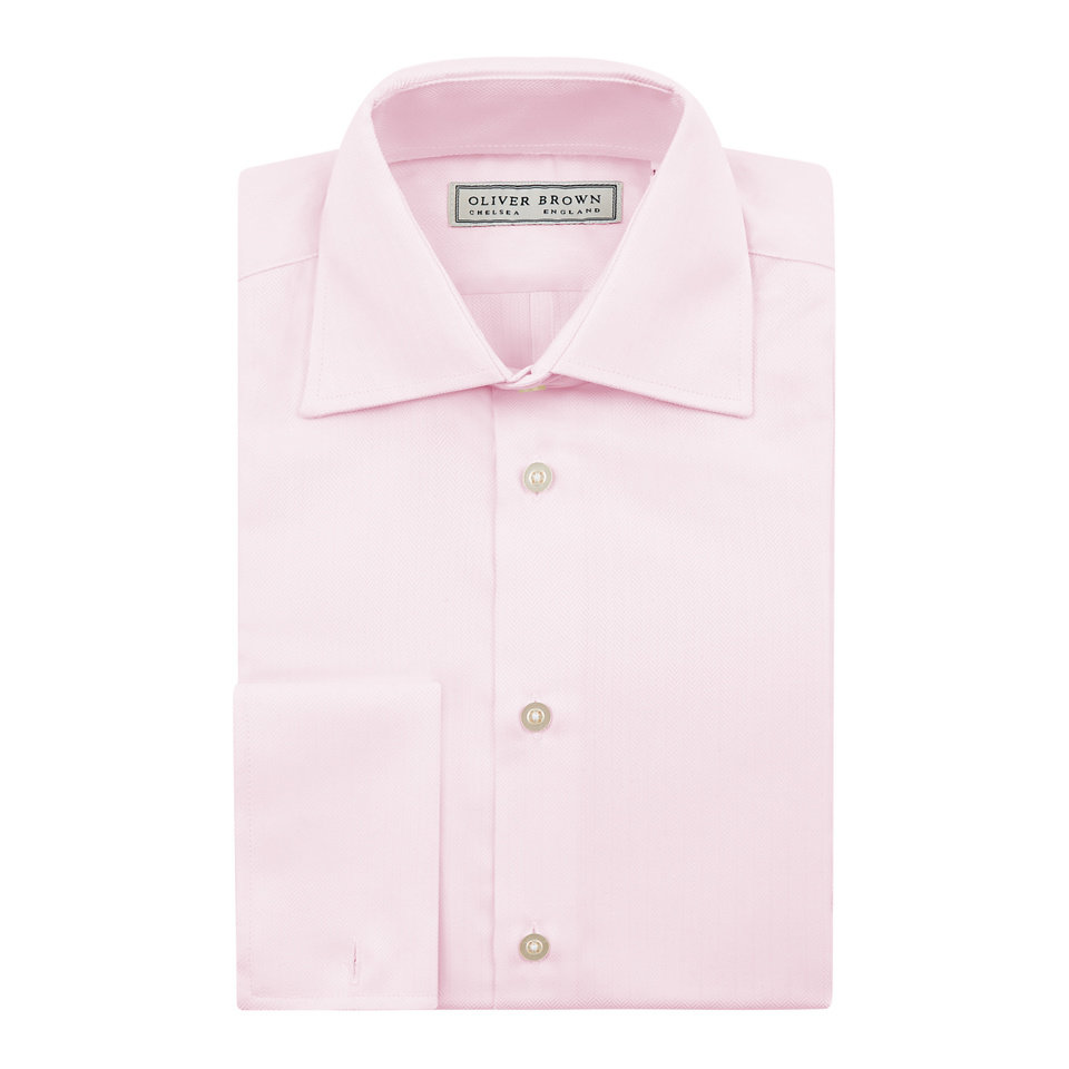 Herringbone City Shirt - Pink