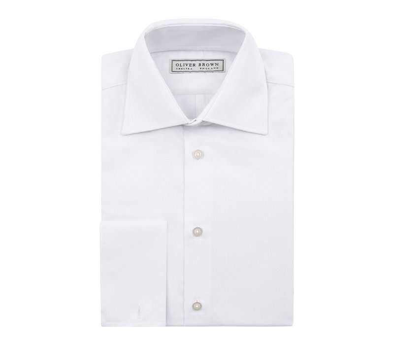 Herringbone City Shirt - White