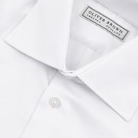 Herringbone City Shirt, Slim Fit - White