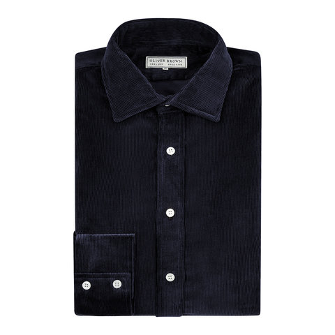Needlecord Shirt - Navy