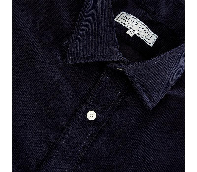 Needlecord Shirt - Navy