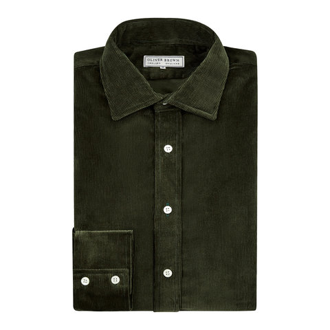 Needlecord Shirt - Green