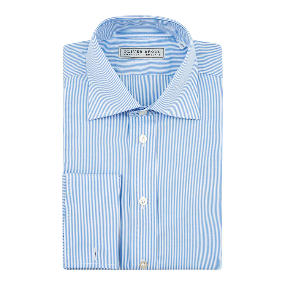 Pencil Stripe City Shirt - Blue