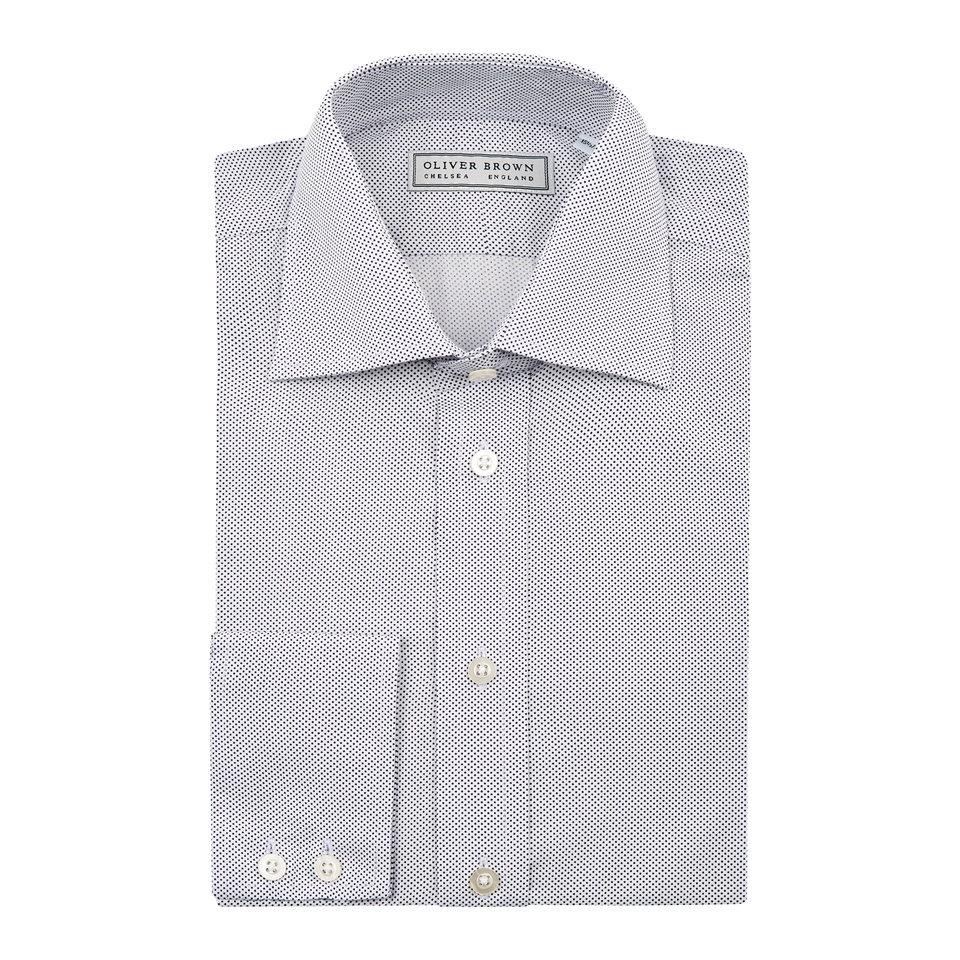 Spot Patterned Shirt - Blue/White