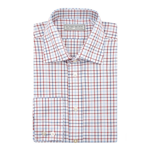 Tattersall Check Shirt - Red/Blue Mix