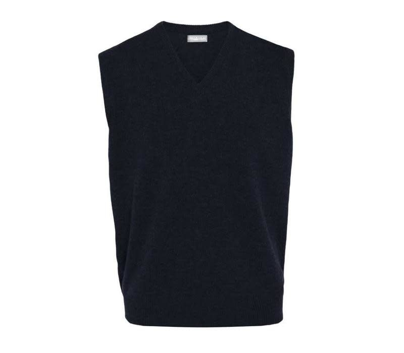 Cashmere Sleeveless Jumper - Navy