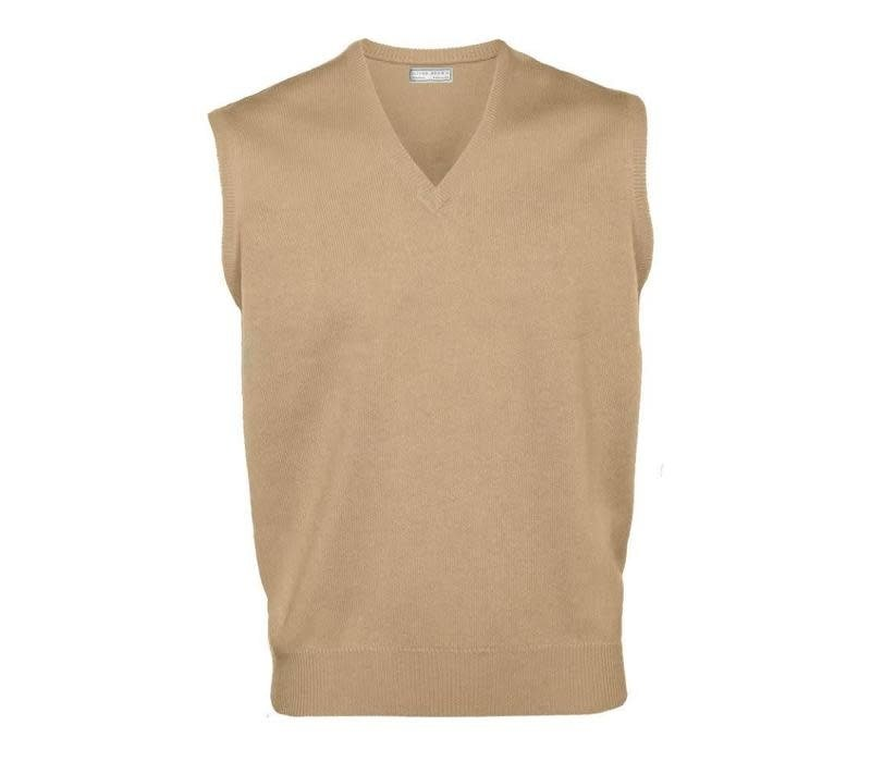 Cashmere Sleeveless Jumper - Natural