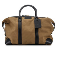 Baron Canvas & Leather Weekend Bag - Olive