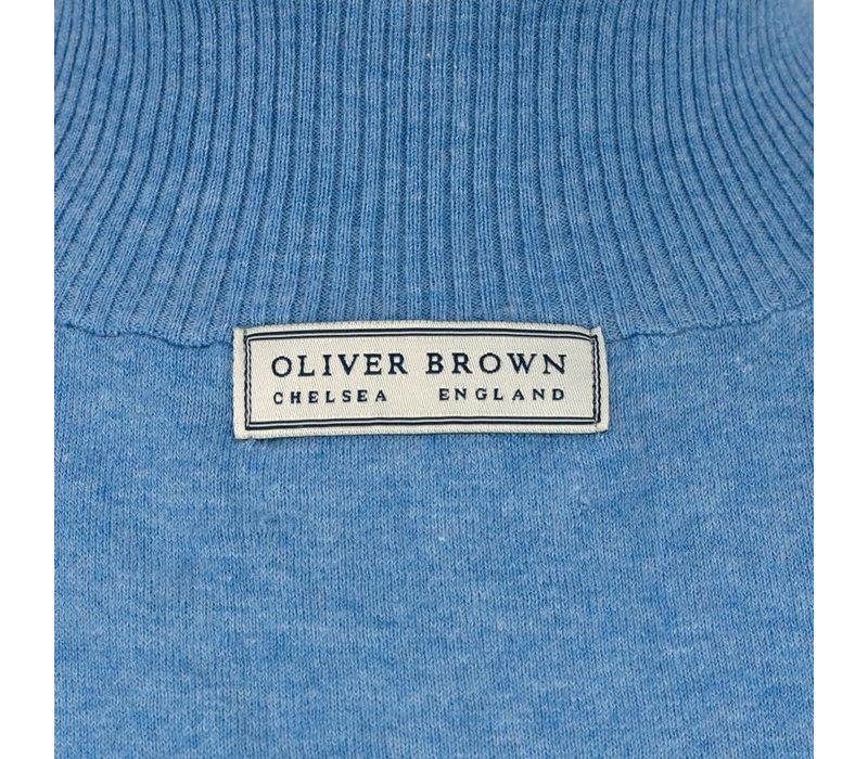 Berrow Cotton Cashmere Gilet - Beige/Blue