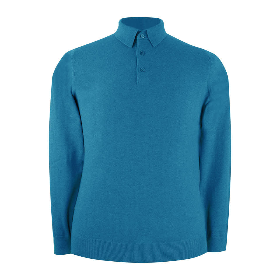 Pentlow Cotton Cashmere Polo Shirt - Blue