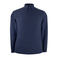 Pentlow Cotton Cashmere Polo Shirt - Navy