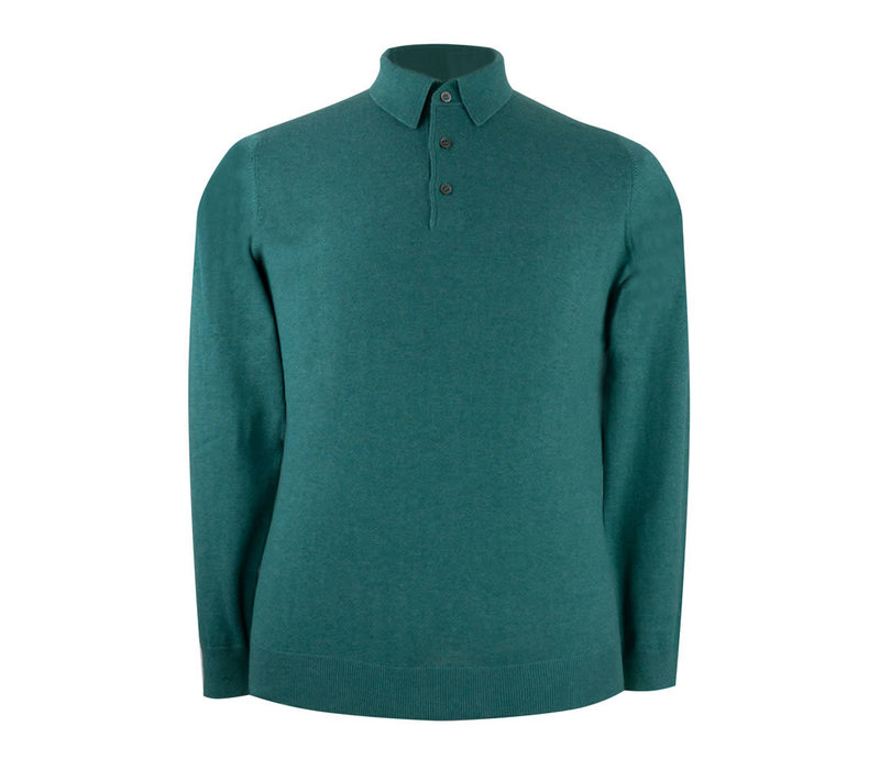 Pentlow Cotton Cashmere Polo Shirt - Moorland