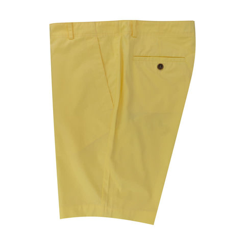 Lightweight Cotton Shorts - Yellow