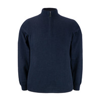 Selhurst Cotton Cashmere Half Zip Jumper- Navy