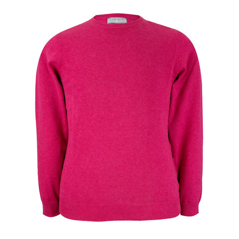 Leysmill Cotton Cashmere Crew Neck Jumper - Blush