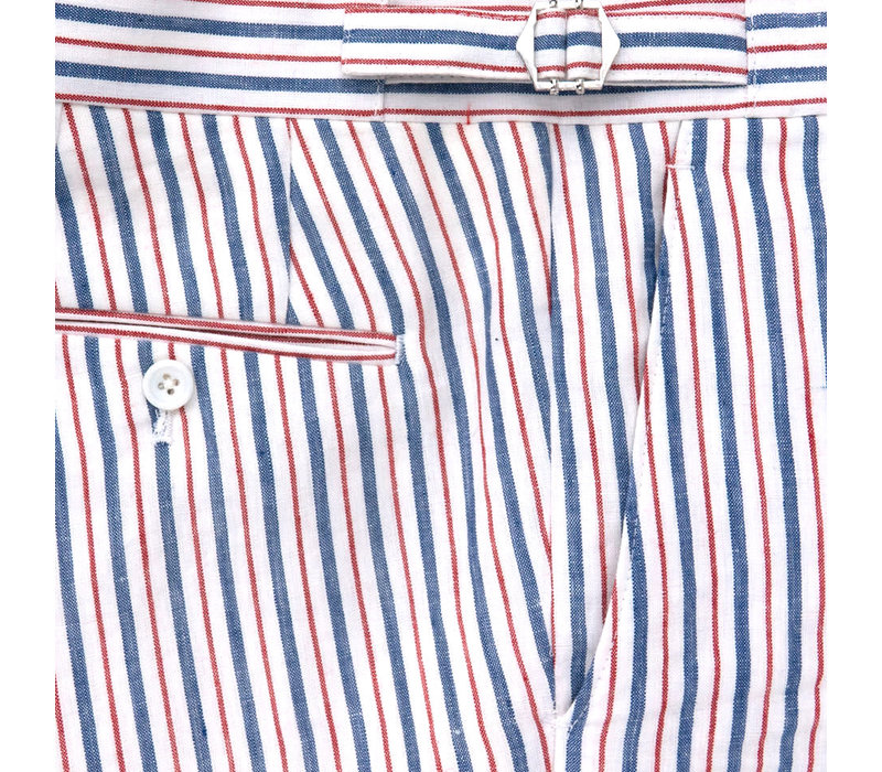 Linen Striped Trousers