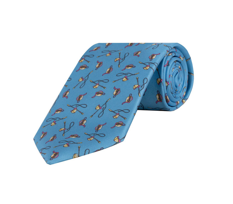 Blue Riding Crop / Jockey Hat Tie