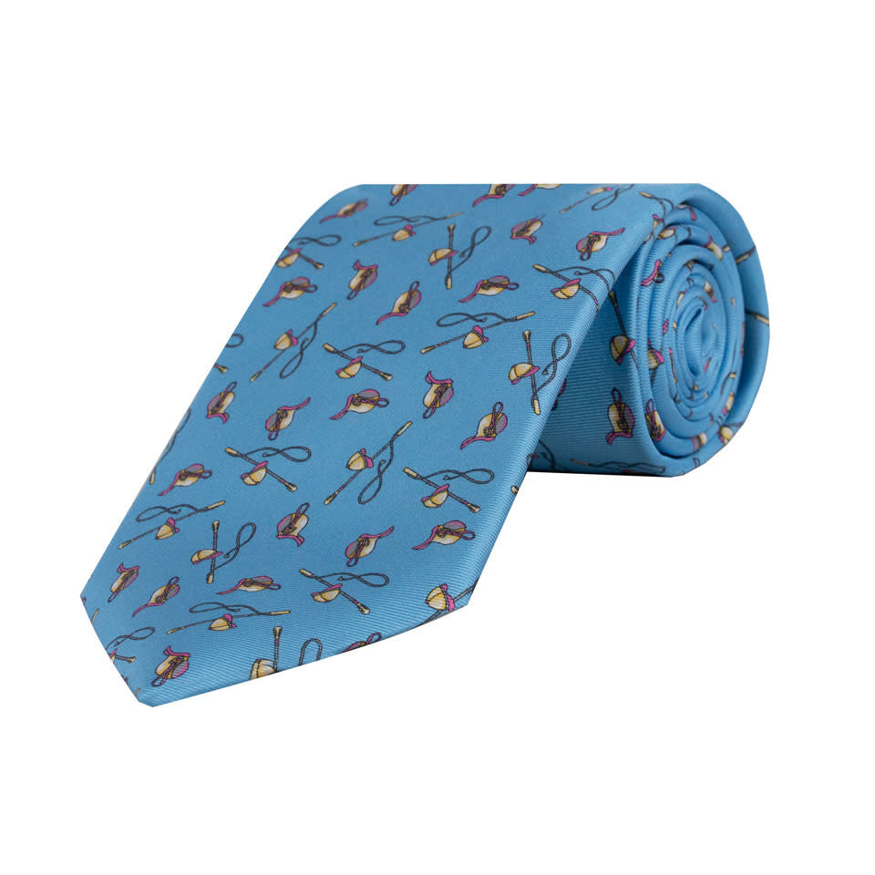 Blue Riding Crop / Jockey Hat Tie