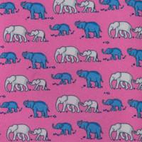 Elephant and Baby Elephant  Pink