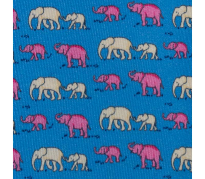 Elephant and Baby Elephant Blue