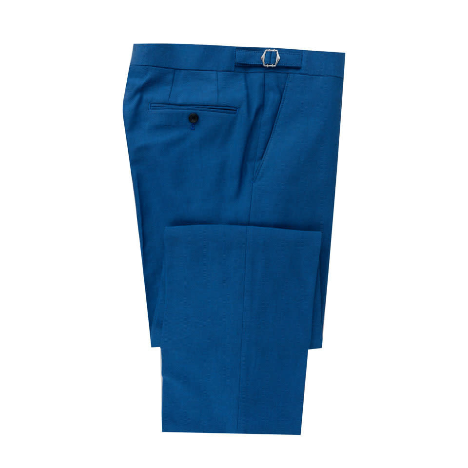 Blue Dot Cotton Trousers