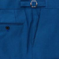 Blue Dot Cotton Trousers