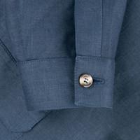 Mandarin Teba Jacket - Navy Linen