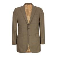 Eaton Sports Jacket - Brown w/ Blue Windowpane
