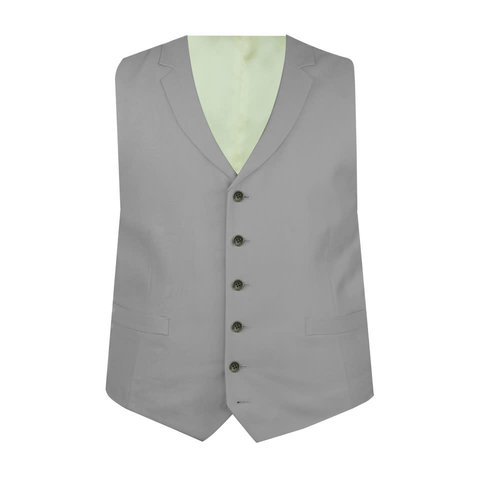 Ex-Rental Single Breasted Wool Waistcoat - Grey