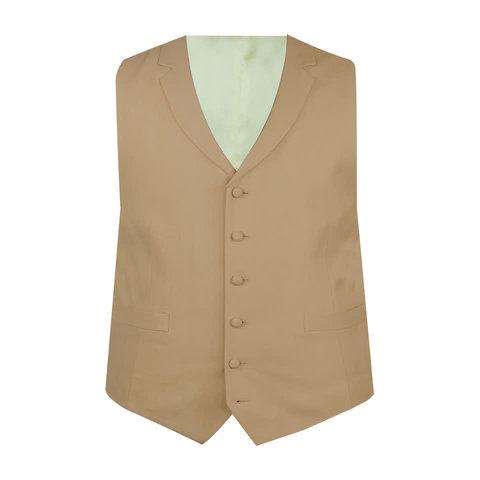 Ex-Rental Single Breasted Wool Waistcoats - Buff